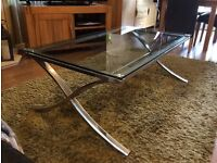 GLASS COFFEE TABLE - IMMACULATE!!
