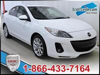2013 MAZDA 3 GT, LEATHER, SUNROOF, A/C, NAVIGATION, AUTOMATIC