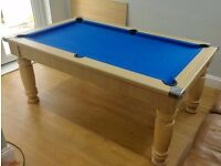 6' x 3' Slate Bed Pool Table / Dining Table - Excellent Condition