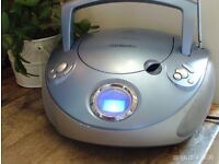 portable CD/ RADIO player, mains or battery powered
