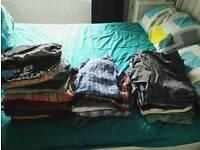 Mens clothes.. 21 t.shirts,6 shirts,5 pair swimming shorts and 9 pair shorts