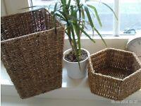 NEW storage baskets metal frames