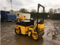 Bomag Dynapac CC12 1200 Terex Benford Ride On Vibrating Double Drum Roller