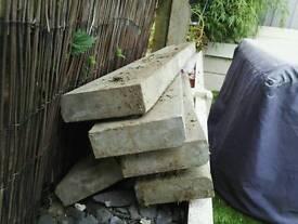 11 x grey bullnose concrete path edge edgers