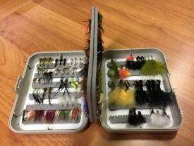 C&F Designs fly box and 141 flies