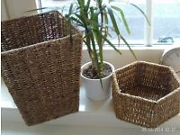 NEW storage baskets metal frames