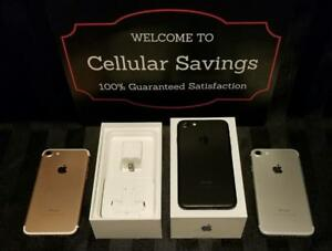 Iphone 7 ***1 WEEK SALE*** UNLOCKED NEW CONDITION IN BOX WITH ACCESSORIES 90 DAYS WARRANTY INCLUDED