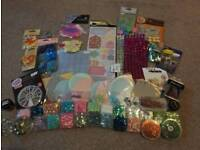 Large selection of craft embellishments