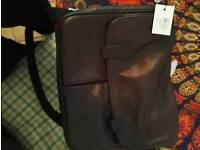 Fossil leather satchel and fossil cufflinks