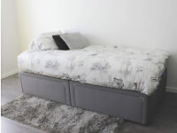 Details about ikea single divan base with 2 drawers AND MATTRESS