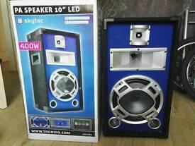 400W Skytec LED speakers (like new)