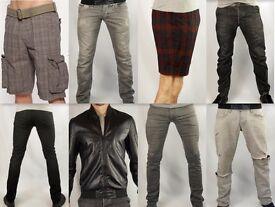 Men's Jeans- Shorts - Jacket - TOPMAN . ZARA. ASOS . CHRISTENFELD. Skinny/Loose etc