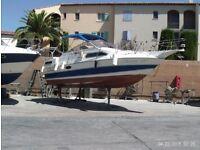 1989 sun runner / power boat /living weekender / moored at marina de cogolin saint , tropez at