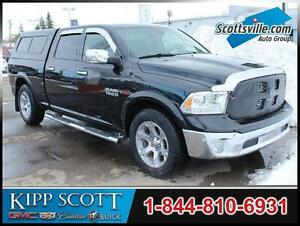2015 Ram 1500 Laramie, Eco-Diesel, Nav, Sunroof, Leather, Topper