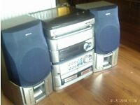 cd, cassette and turntable music system