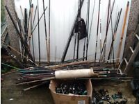 FISHING RODS REELS POLES JOBLOT
