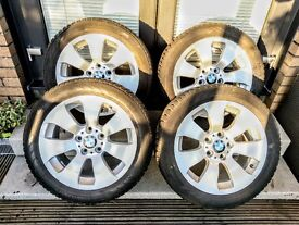 """4 x BMW 158 17"""" Alloy Wheels with 225/50 Nokian WR D3 Winter Tyres"""