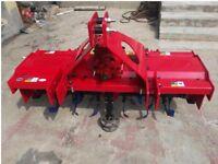 Tractor rotary tiller / rotavator - width 1.2m - Brand New - Heavy duty - PTO