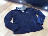 New EVERLAST full zip up navy fleece size 8