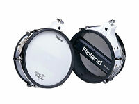 ROLAND PD-100 ten inch mesh pad tom snare V Drums electronic kit upgrade White