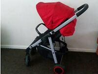 Red pushchair