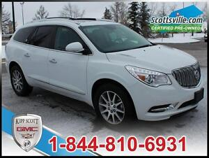 2016 Buick Enclave Leather, Sunroof, 7 Pass, Hitch, Roof Rails