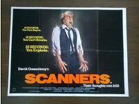 scanners ' original british quad ( 30 x 40 inches ) cinema poster