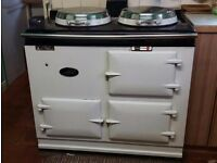 2-oven, oil-fired Aga, professionally dismantled, ready to collect from April 24th