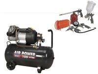 Sealey SAC10030VE Compressor 100ltr V-Twin Direct Drive 3hp + SA33G Air Accessory Kit 5pc