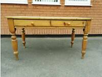 Antique solid pine table