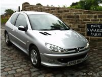 Peugeot 206 Sport In Silver. 2005 55 reg With Service History