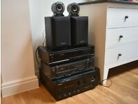 Music System - CD Player, Amplifier, Cassette Player and Speakers