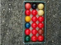 Snooker balls.