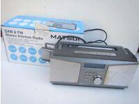 Matsui DAB & FM Stereo Kitchen Radio DABR103