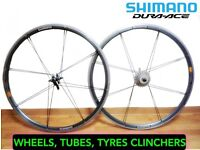 DURA ACE CYCLE WHEELS RACE DURACE TRI FAST SPEED LIGHT WEIGHT CLINCHER HUBS SHIMANO TREK LOOK £1000