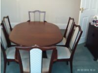 Mahogany Table with Six Chairs