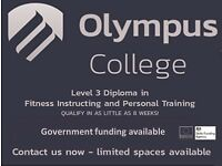 Become a level 3 Personal Trainer, 8 weeks 2 days a weekdays or Weekends, Fully Student Funded 19+
