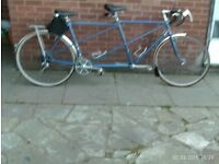 blue tandem double brakes saddle bag nice condition