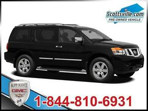 2011 Nissan Armada Platinum, Leather, 7 Pass, Nav, DVD, Sunroof