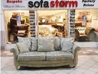 ScS 3+2 Sofa gold / grey EX Display
