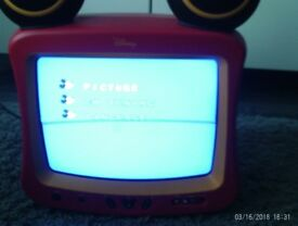 Disney TV childrens with Menu button scart aeriel and earphones etc Retro style