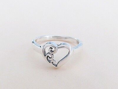 Sterling Silver Swirls Heart ring sizes 3, 4, (5 3/4 Sterling Silver Jewelry)