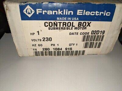 1 Hp 230v Franklin Control Box Submersible Water Pump 2801084915