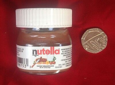 NUTELLA mini 25g rare glass jar collectable Made in ITALY. BEST PRICE...