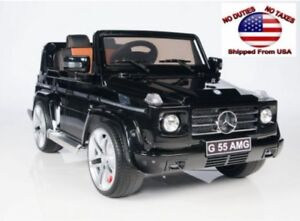 Electric Ride On Toy Car Mercedes Benz G55 AMG + Wireless Remote