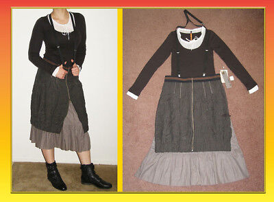 Peasant Dress Outfit M 8 Skirt Suspenders 3pc Boho Steampunk (Cop Outfits)