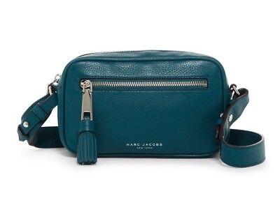 New MARC JACOBS Zoom Leather Crossbody Bag Deep Sea $275