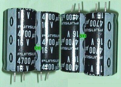 4700uf mfd Electrolytic Capacitor 16V (Qty 4) Radial 16v Electrolytic Capacitor Radial