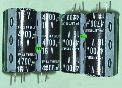 4700uf Mfd Electrolytic Capacitor 16v Qty 4 Radial