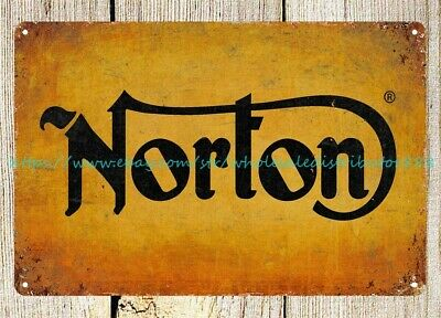 norton Motorcycles man cave garage metal tin sign home decoration design